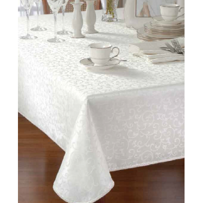 Jacquard Solid Table Cloth 60X140 inch
