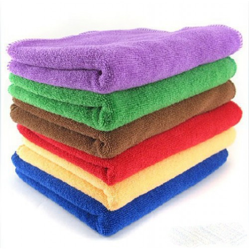 Red Microfiber Bath Towels: Cheap Microfiber Towels 12x23.6 Inch Kitchen/Car Cleaning
