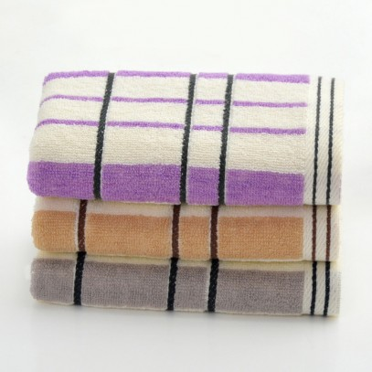Pure Cotton Plaid Striped Hand Towel 13x29 inch
