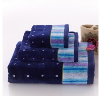 Top Grade Cotton Velvet Pile Towel Set Washcloth+Hand Towel+Bath Towel