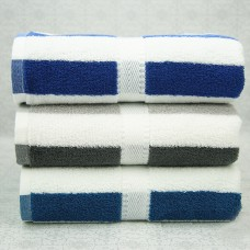 Pure Cotton Colorful Striped Bath Beach Pool Towel