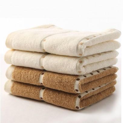 "100% Cotton  13""X31"" Dot Satin Hand Towel"