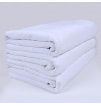 Super Large Premium Hotel Cut Pile Cotton Bath Towels 32/2S 35x71 inch White