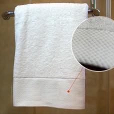 HIgh Quality 16S Cotton Big White Bath Towel Wide Fancy Satin 30x59 inch