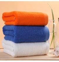 Whoiesale Cotton Hotel Bath Towels 30x71 inch White/Orange/Blue