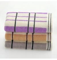 Pure Cotton Plaid Striped Hand Towel 13x29 inch