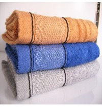 """Superior Thick Bamboo Cotton Hand Towels with Wide Satin 13""""x30"""""""