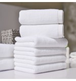Cotton Plied yarns Restaurant Hotel Hand Towels White100g/120g/150g