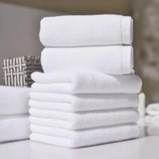 Cotton Plied yarns Restaurant Hotel Hand Towels White100g/120g/150g