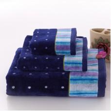 Top Grade Cotton Velvet Pile Towel Set Washcloth+Hand Towel+Bath Towel