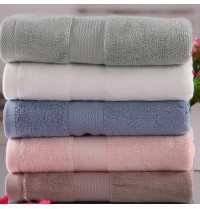 Bamboo Solid Thick Hand Towels 13.4x30 Inch with Satin