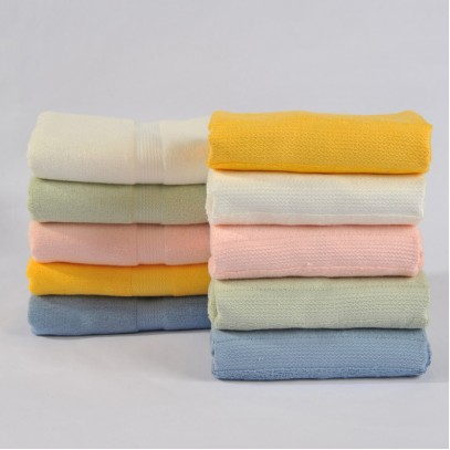"Bamboo Fiber Solid Hand Towels Washcloth 13.4""x30"" 155g"