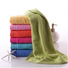 Simplicity 100% Cotton Bathroom Hand Towel Solid Texture 7 colors/Lot